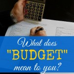 What does 'budget' mean to you?