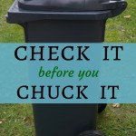 Frugal rule: Check it before you chuck it