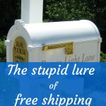 The stupid lure of free shipping
