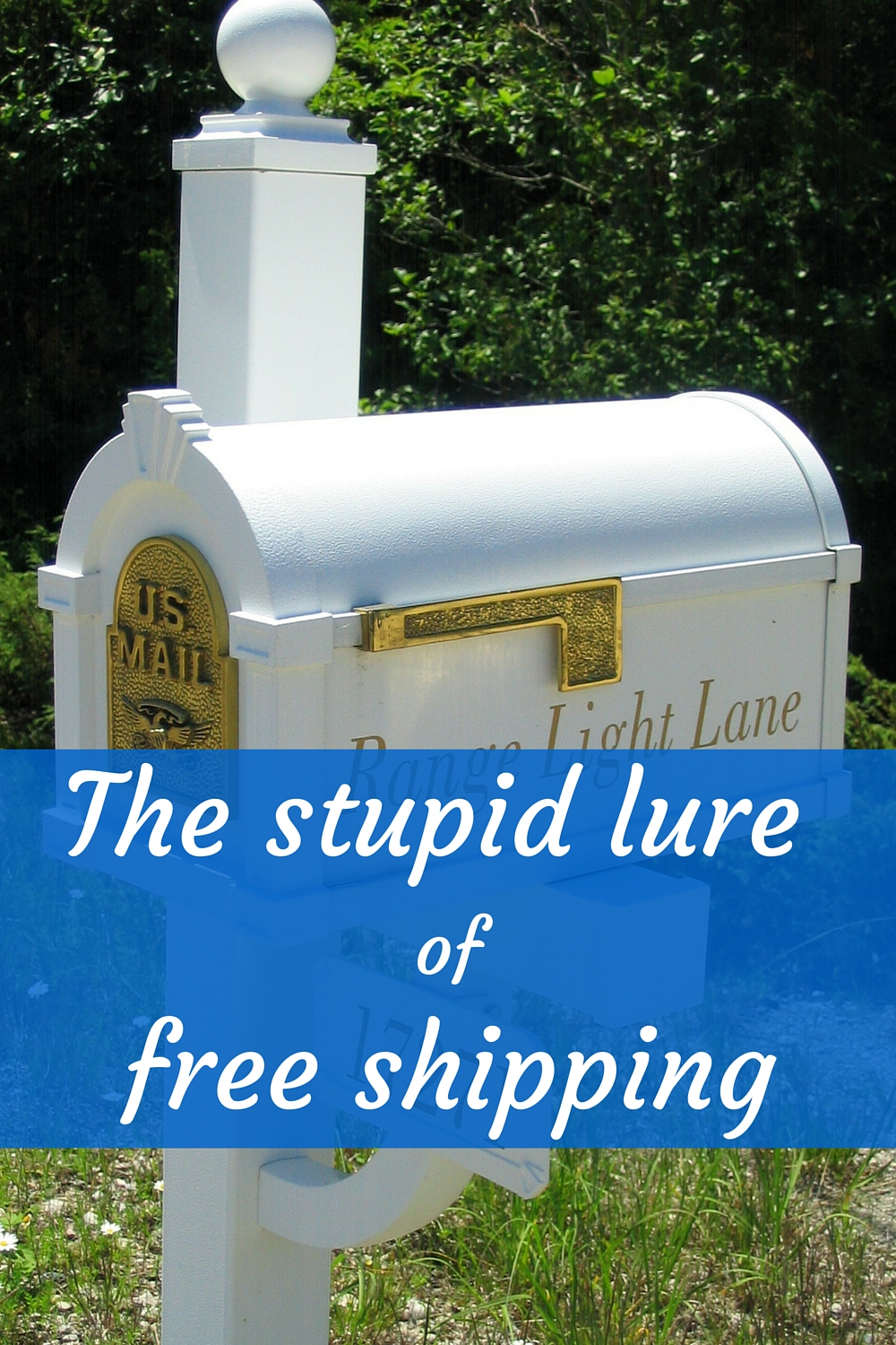 I may be frugal, but free shipping gets me every time!