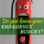 Do you know your emergency budget?