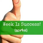 Week 1: Success (sorta)