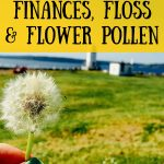 Floss, finances and flower pollen