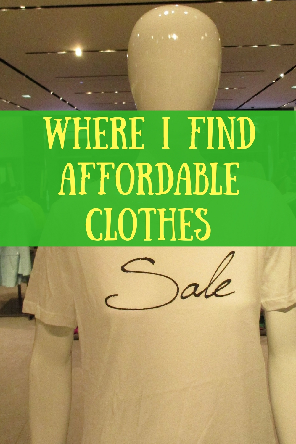 Great ideas on where to find clothes frugally!