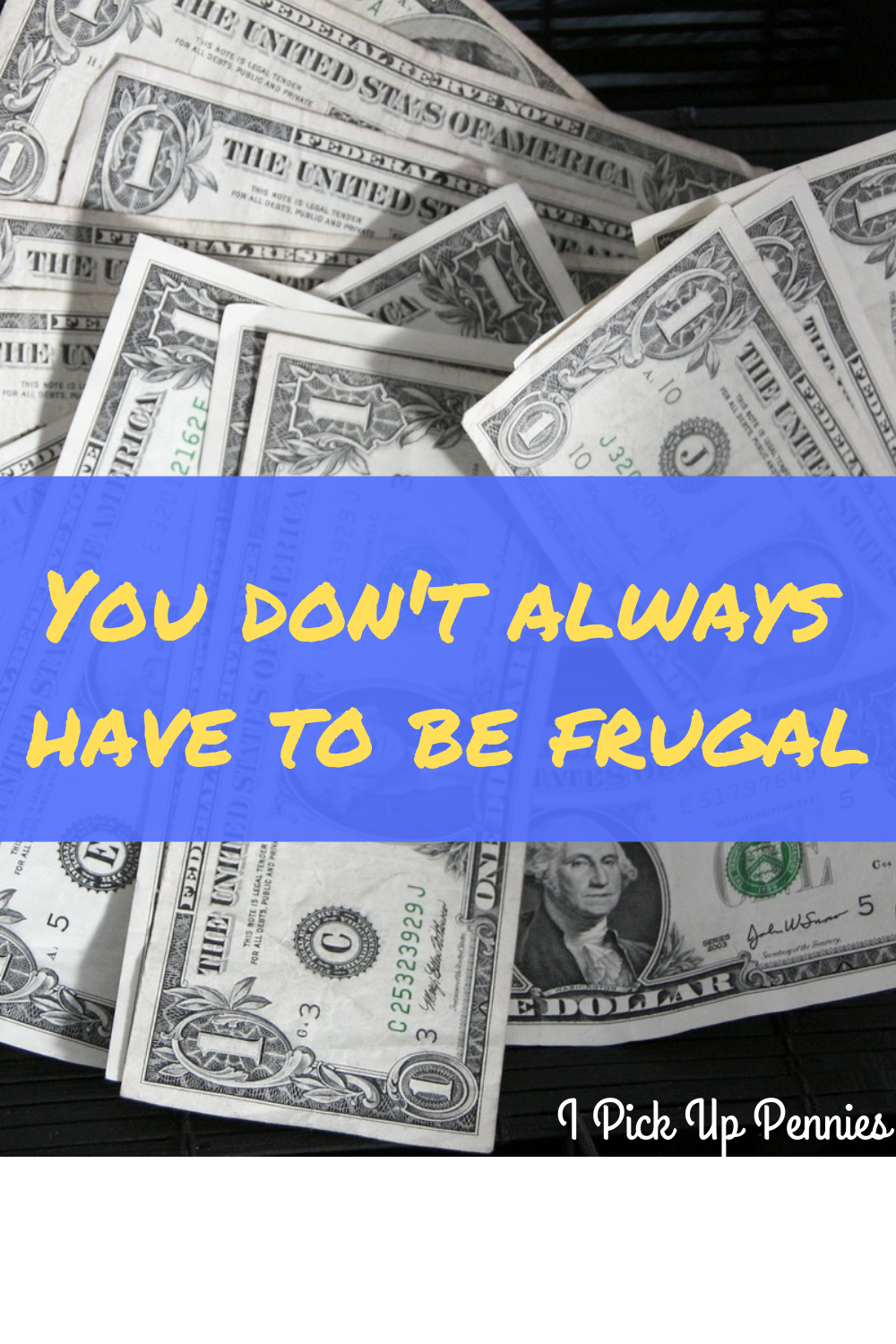Frugality isn't a 100% of the time thing!