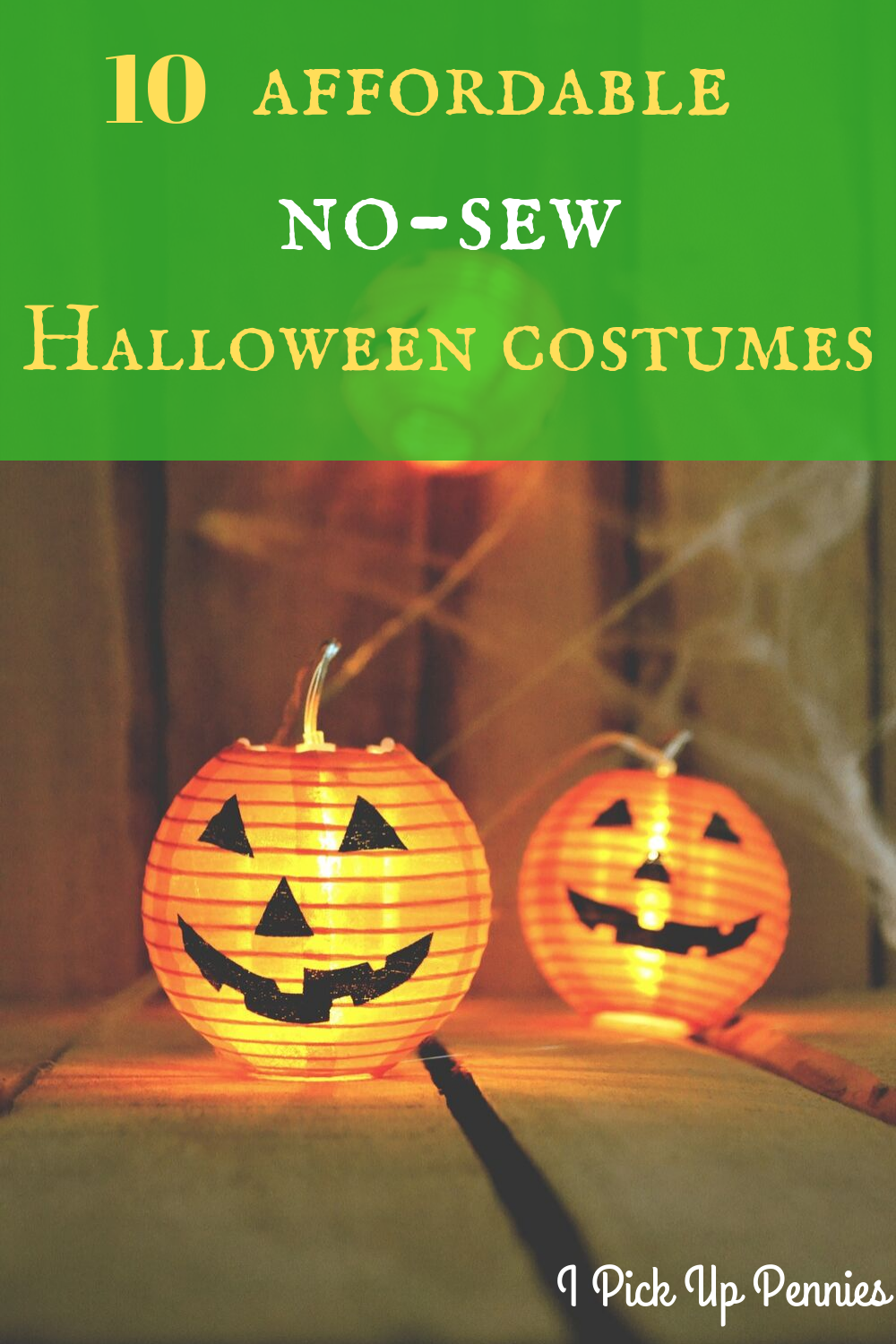 Great ideas for cheap Halloween costumes! No sewing either!