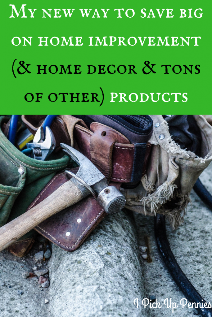 There's a great way to #save #money on your latest home improvement or redecoration project -- along with plenty of other types of products. #frugality #savemoney #deals #redecorate #savings #shopping #homeimprovement #redesign