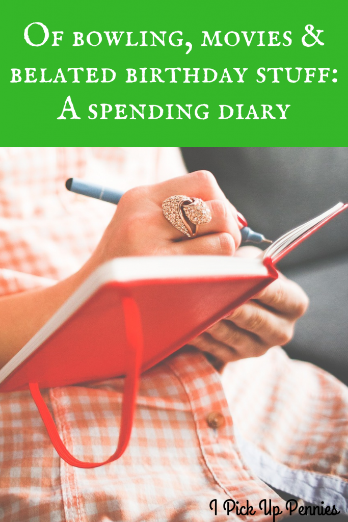 A #spending diary recounting my daily activities and the #money spent doing them. #frugality #frugal #personalfinance